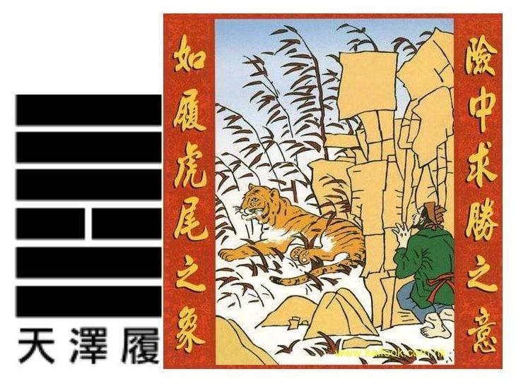 yi king hexagramme 10 Liu en image H10%20Liu%20-%20La%20marche%2C%20la%20morale
