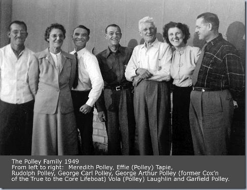1949 George Arthur Polley with his six children